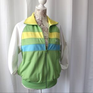 Retro 80s Le Tigre Track Jacket Sz M women, S men